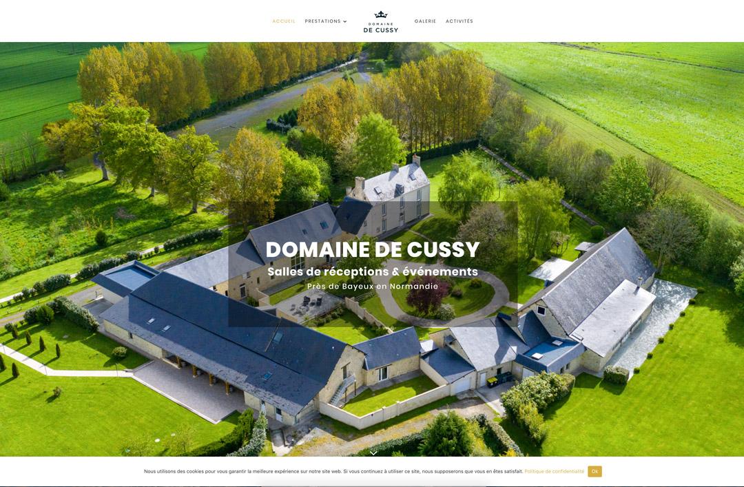 creation de site web caen domaine de cussy