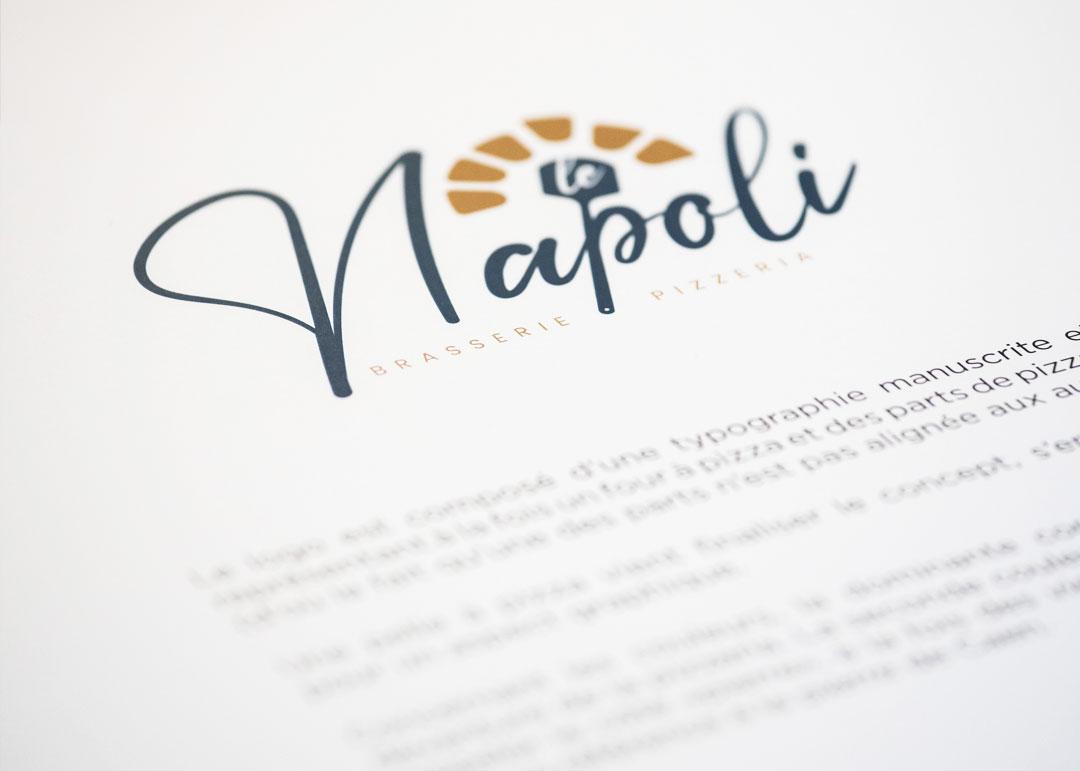 creation de logo caen restaurant le napoli