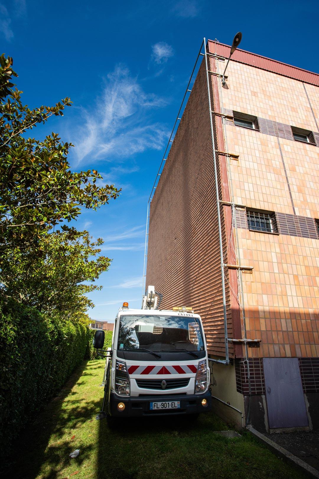 installation bache mairie de cabourg
